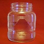 Hazel Atlas Diamond Pattern Square Canister/Jar