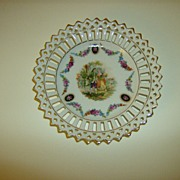 Bavaria Schumann Reticulated China Plate