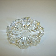 Crystal Pressed Glass Ashtray ~ Flower