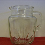 Federal Glass Texas Star Juice Pitcher
