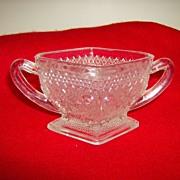 Indiana Glass ~ Sugar Bowl ~ Sandwich Pattern