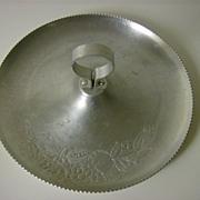 Hand Forged Round Aluminum Fruit Tray