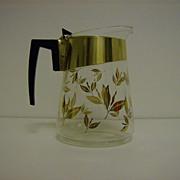 Douglas Glass Coffee Carafe ~ 1950's