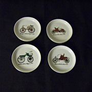 Vintage Car Porcelain Coaster Set ~ Made in Japan