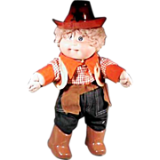 Cute Cabbage Patch Kids Cowboy Ready for Halloween or the Rodeo