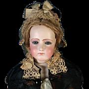 """Antique 20"""" Portrait Jumeau French Fashion Bisque Head Doll Mature Jumeau Lady"""