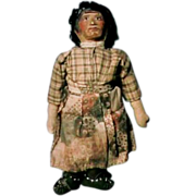 Rare Mary Frances Woods Indian Doll Lady in Homespun & Gauze Dress