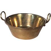 Antique Brass Pan or Tub for Miniature German Kitchen