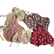 Lot of 5 Doll Aprons all Different Styles, Ages and Fabrics