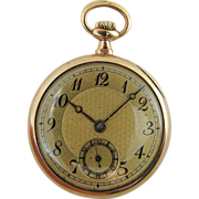Vintage 14K Gold Concord 15 Jewel Ladies' Pocket Watch