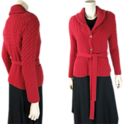 SOLD Vintage Sonia Rykiel Wool & Angora Belted Cardigan Sweater ON LAYAWAY