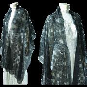 Antique Black Lace Shawl