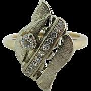 Vintage 1960's 14K Yellow And White Gold Diamond Ring