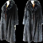SOLD Vintage Black Mink Stroller Length Coat From Siberian Fur Company