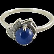 Charming Vintage 14K White Gold Star Sapphire Ring