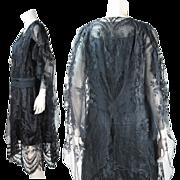 1920's Vintage Gossamer Silk Lace And Silk Charmeuse Dress