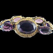 Vintage 1930's Czechoslovakian Amethyst Glass Bracelet