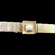 Vintage 14K Gold Natural Star Sapphire Mens Alligator Style Tie Clip