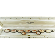 SOLD Finely Carved Shell Cameo Bracelet & Earrings In Original Swiss Jeweler's Box ON LAYAWAY