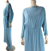 Vintage 1970's Bill Blass Dolman Sleeve Goddess Dress