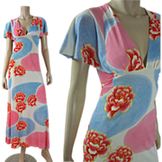 Vintage 1970's Kenzo For Annabella Jersey Dress