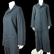 Vintage Yohji Yamamoto Two-Piece Fine Black Wool Gabardine Suit