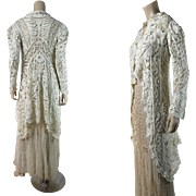 Antique Edwardian Battenberg And Cluny Lace Coat