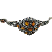 Outstanding Antique Austro-Hungarian Silver And Citrine Bracelet