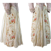 SOLD Antique 1880's Victorian Layered Silk Bustle Skirt
