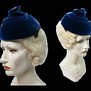 1950's Vintage Hattie Carnegie Open-Crown Corkscrew Spiral Hat