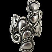 Vintage Mexican Sterling Silver Clamper Bracelet