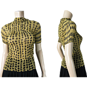 Vintage Issey Miyake Pleated Yellow And Black Top