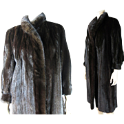 SALE PENDING Vintage Black Mink Coat With I Magnin Label ON LAYAWAY