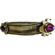 Antique Victorian 18K Gold And Tourmaline Slide Bracelet