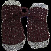 Antique Georgian Regency Crochet And Cut-Steel Finger Ring Purse