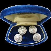 Antique Edwardian 14K Gold And Platinum Cufflinks