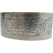 Vintage 1 1/4-Inch Wide Stamped Sterling Silver Cuff Bracelet 60.8 Grams