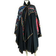 SOLD Wonderfully Textural Early 1980's Koos Van Den Akker Collaged Cape