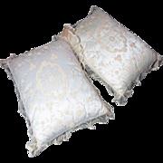 Beautiful Pair Of Antique Circa 1910 Princesse Lace Boudoir Pillows