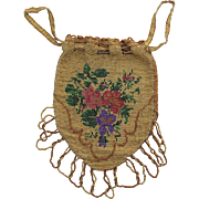 Pretty And Colorful 1920's Cut Steel Beaded Evening Bag