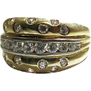 Vintage 14K Yellow And White Gold Ring With One Carat Of Diamonds ON LAYAWAY