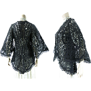 Antique Victorian Circa 1890 Lacy Soutache Jacket With Bell Sleeves