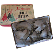 SALE Miniature Metal Cookie Cutters for Christmas Six Pieces Original Box