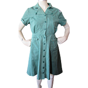 Original Girl Scout Dress with Badge by Girl Scouts National Equipment Service 1960's or 1970'