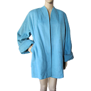 SALE Mid-Century Swing Coat in Robin Egg Blue Fleece by Stroock Bonaire Tailored by ...