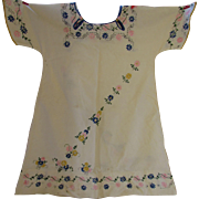 SALE Girl's Dress 1920 Era Embroidered Flowers Hand Made