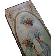Sweet Candy Box with Pretty Lady in Nouveau Design Cartouche