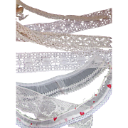 SALE Vintage Lace Pieces for Doll Clothing and Cottage Style Crafts
