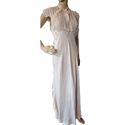 Feminine Silky Nightgown in Whisper Peach 1930 Style