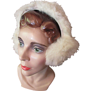 SALE Fluffy White Fur Ear Muffs Ready for Winter Wear